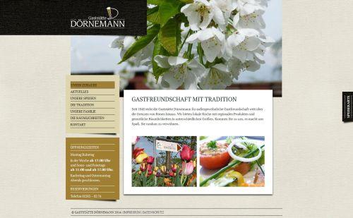 Gaststätte Dörnemann - website Screenshot