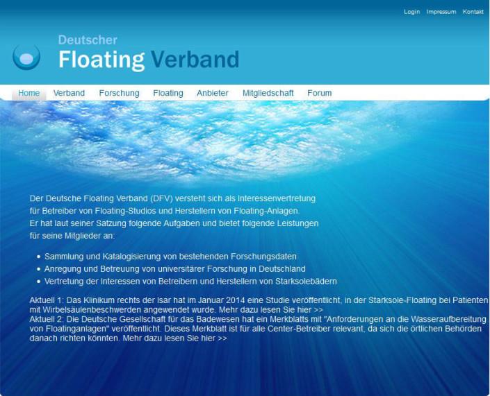 screenshot-floating-verband website