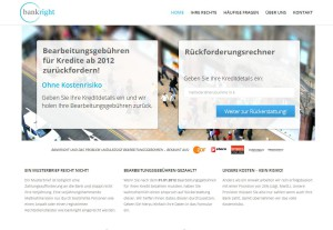 website bankright.de screenshot