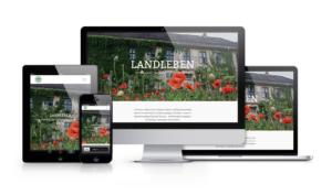 Showcase Landleben WordPress Website